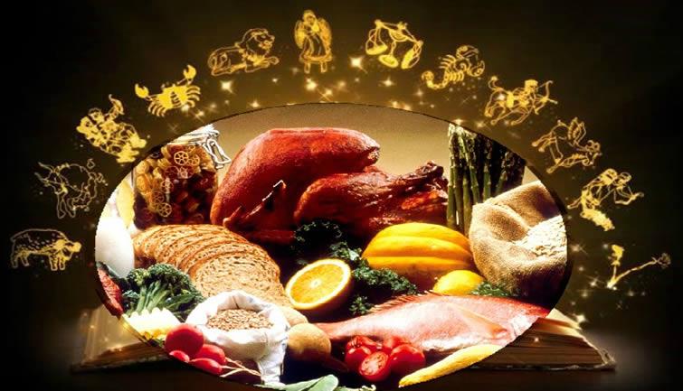 La astrología y la comida