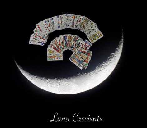 La Luna y el Tarot. Luna Creciente